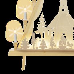 Detail Lichterecke Seiffener Kirche, 60 cm