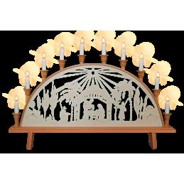 Schwibbogen Krippe mit Stern, 67 cm