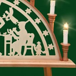 Detail Schwibbogen Johann-Georgen-Städter mit Sternleiste, 67 cm