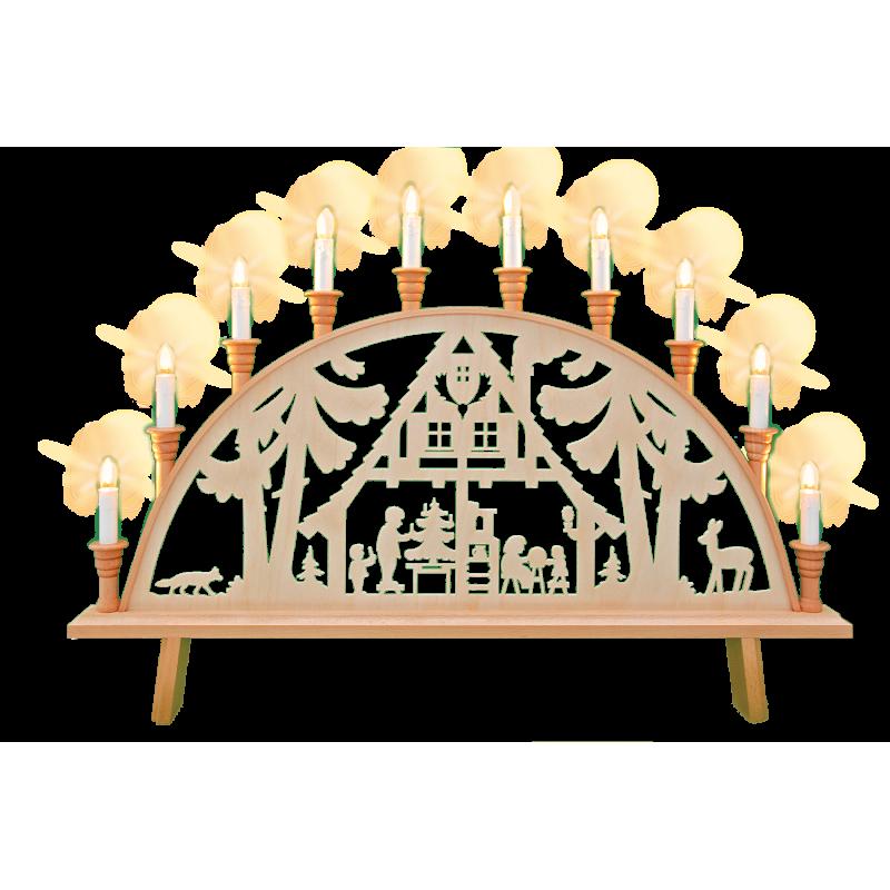 Schwibbogen Adventshaus, 67 cm
