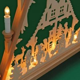 Detail Lichterecke Adventshaus, 60 cm