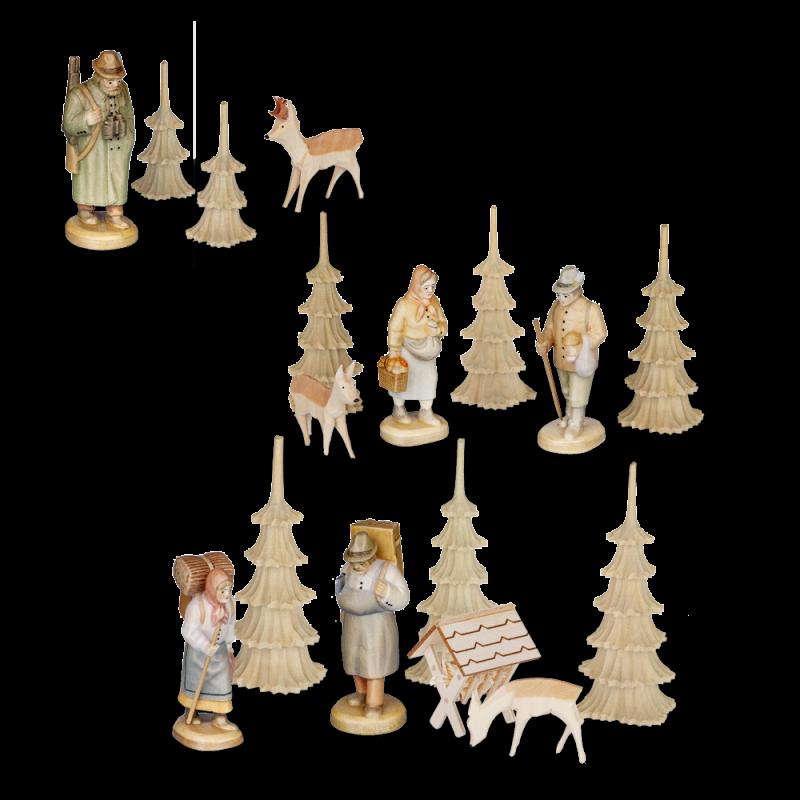 Erzgebirgische Figuren für 3-stöckige Pyramide