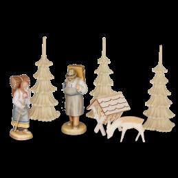 dritter Stock Erzgebirgische Figuren für 3-stöckige Pyramide