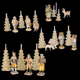 Erzgebirgische Figuren für 4-stöckige Pyramide