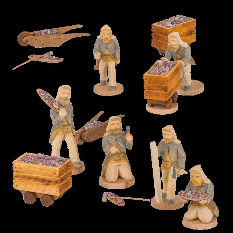 Figuren Bergwerk 6,5 cm für 3-stöckige Pyramiden