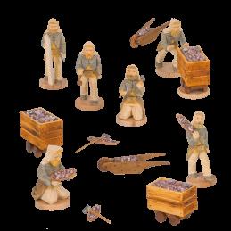 Figuren Bergwerk 8 cm für 4-stöckige Pyramiden