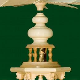 Detail Kurrende für Pyramiden mit geschnitzten Zierelementen