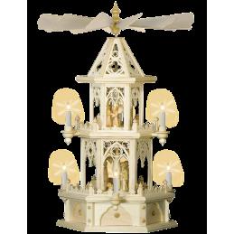 Pyramide 2-stöckig mit gotischem Motiv