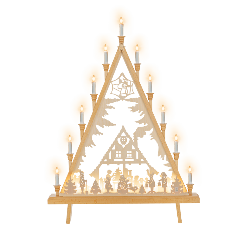 Lichterecke Adventshaus, 60 cm